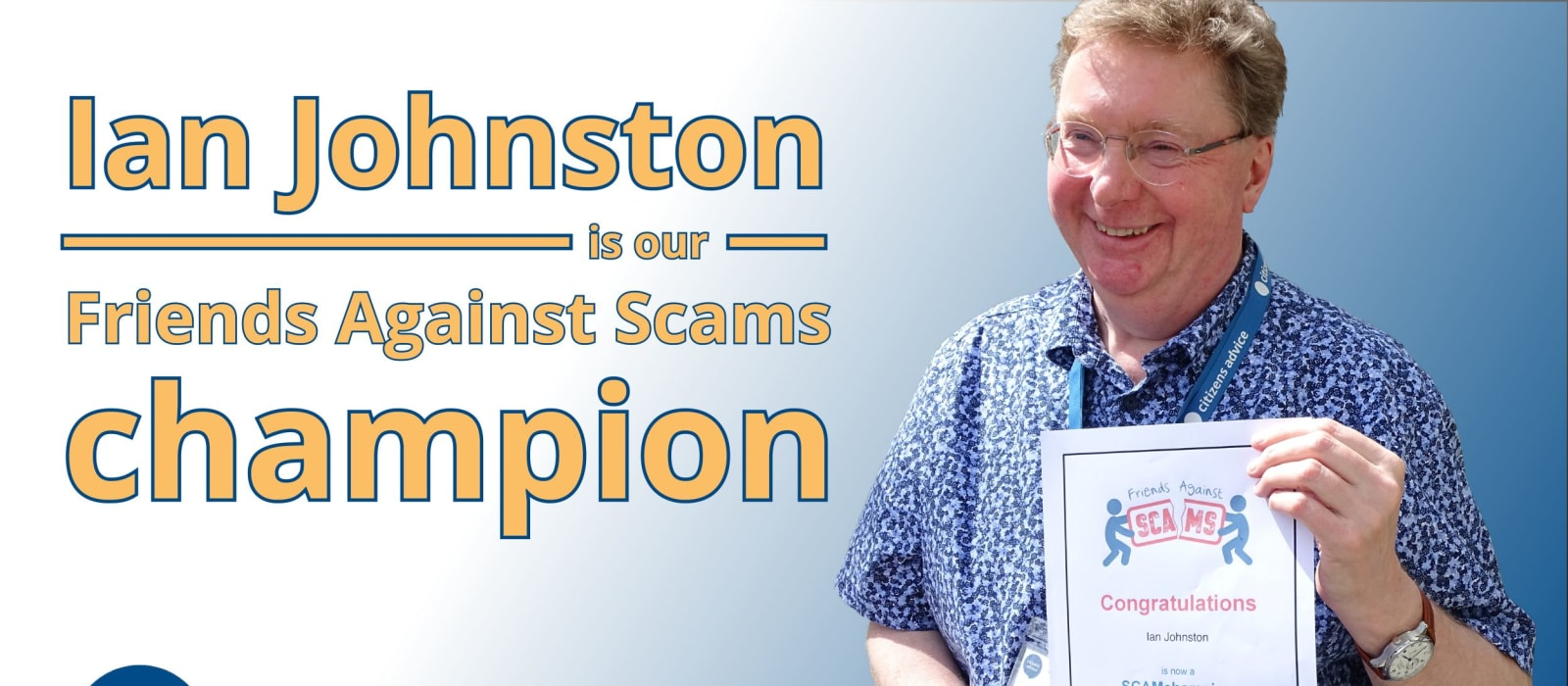 Scams Fortnight 2020: Meet Our Scam Champion!