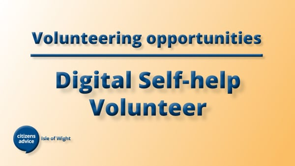 Digital Self-Help Volunteer