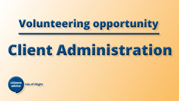 Client Administration Volunteer